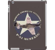 Vintage Look North American Aviation P-51 Mustang Fighter iPad Case/Skin