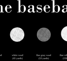 The Baseball - A Disection Sticker