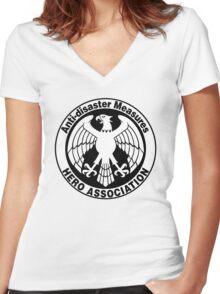 Hero Association Logo Women's Fitted V-Neck T-Shirt