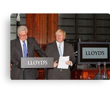 John Nelson & Boris Johnson Canvas Print