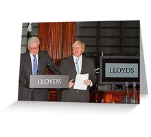 John Nelson & Boris Johnson Greeting Card