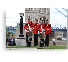 The Royal Anglian Band playing at City Hall Canvas Print