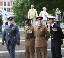 Members of all the Armed Forces at City Hall by Keith Larby