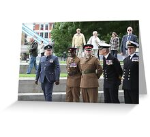 Members of all the Armed Forces at City Hall Greeting Card