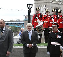 Boris Johnson at the Flag raising ceremony  by Keith Larby