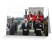 Boris Johnson at the Flag raising ceremony  Greeting Card