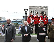 Boris Johnson at the Flag raising ceremony  Photographic Print