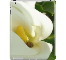 Beautiful Calla Flower On Green Natural Background  iPad Case/Skin