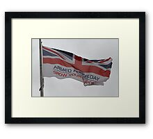 Armed Forces Day Flag Raised at City Hall Framed Print
