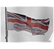Armed Forces Day Flag Raised at City Hall Poster