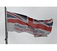 Armed Forces Day Flag Raised at City Hall Photographic Print