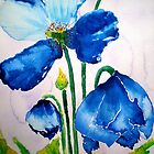 EVAS` BLUE POPPIES by jyoti kumar