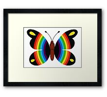 COLORFUL RAINBOW BUTTERFLY Framed Print