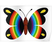 COLORFUL RAINBOW BUTTERFLY Poster