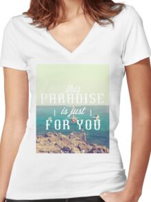 this Paradise (Original) Women's Fitted V-Neck T-Shirt