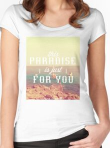 this Paradise (Haze) Women's Fitted Scoop T-Shirt