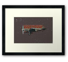 Vintage Look Curtis P-40 Warhawk Fighter Bomber Plane Framed Print