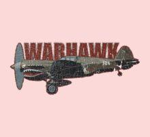 Vintage Look Curtis P-40 Warhawk Fighter Bomber Plane Baby Tee