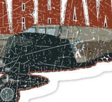 Vintage Look Curtis P-40 Warhawk Fighter Bomber Plane Sticker