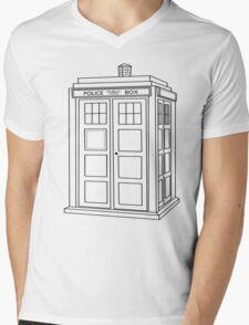 Timey Wimey Blue Box Mens V-Neck T-Shirt