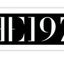 The 1975 Logo Sticker
