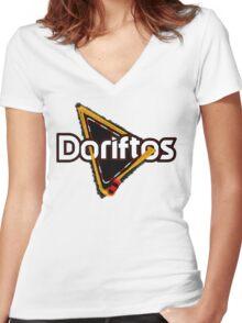 Doriftos Women's Fitted V-Neck T-Shirt