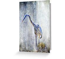 Great Blue Heron - Ardea herodias Greeting Card