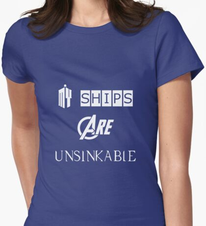 My Ships Are Unsinkable (Doctor Who) Womens Fitted T-Shirt
