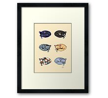 Watercolor Kitties Framed Print