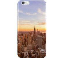 New York City Skyline - Skyscrapers at Sunset iPhone Case/Skin