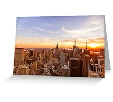New York City Skyline - Skyscrapers at Sunset Greeting Card