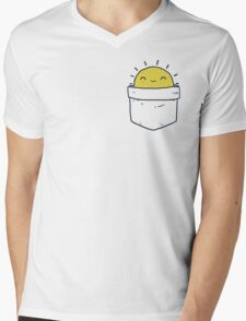 My Pocket Sun Mens V-Neck T-Shirt