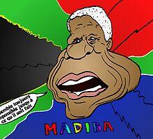 Portrait comique de Nelson Mandela by Binary-Options