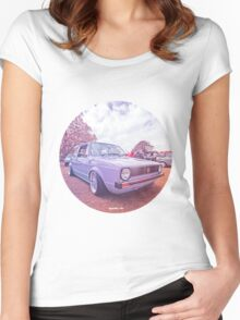 Mk1 Golf Dreams Colour Women's Fitted Scoop T-Shirt