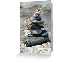 cairn mirroring nature Greeting Card