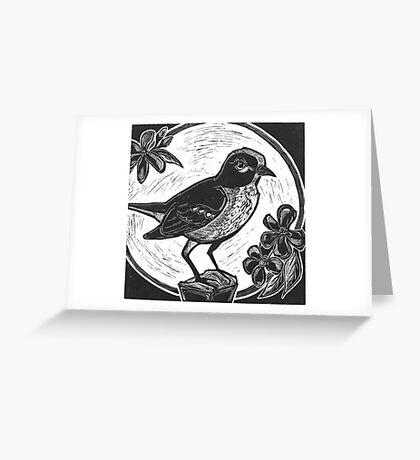 Midnight Mockingbird Greeting Card