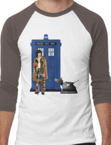 The Doctor and K-9 Men's Baseball ¾ T-Shirt