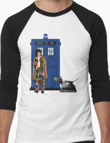 The Doctor and K-9 Men's Baseball ¾ T-Shirt