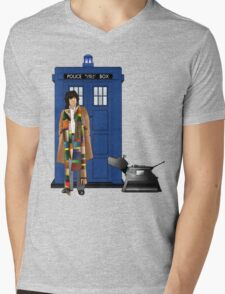 The Doctor and K-9 Mens V-Neck T-Shirt