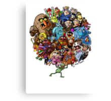Muppets World of Friendship Canvas Print