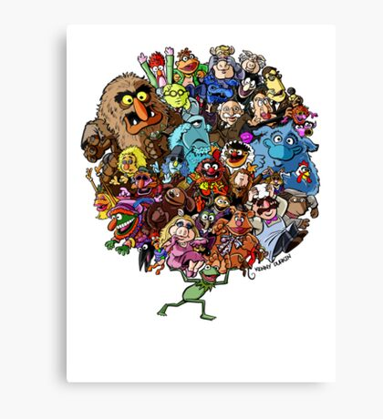 Muppets World of Friendship Canvas Print