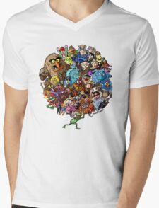 Muppets World of Friendship Mens V-Neck T-Shirt
