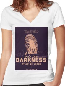 Darkness [Candy] Women's Fitted V-Neck T-Shirt
