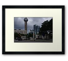 Dealey Plaza - Reuinon Tower - Downtown Dallas - May 2013 Framed Print