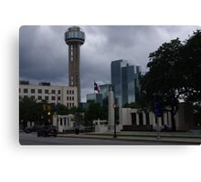 Dealey Plaza - Reuinon Tower - Downtown Dallas - May 2013 Canvas Print
