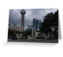 Dealey Plaza - Reuinon Tower - Downtown Dallas - May 2013 Greeting Card