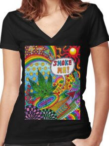 Free Mind Women's Fitted V-Neck T-Shirt