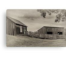 "Farm Buildings at ""Bygone Days"", Collingwood, ON, Canada  Canvas Print"