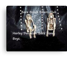 Bare Bones Biker Boys Canvas Print