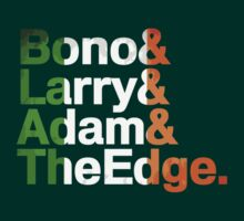 Bono, Larry, Adam & The Edge T-Shirt or sticker by Flyinglap